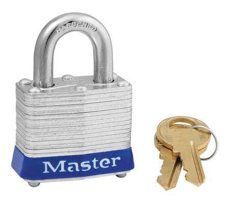"""Lockout Padlock,KA,Blue,1-1/4""""H MASTER LOCK 3KABLU-0354"""