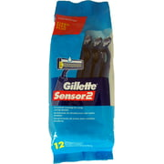 Gillette Sensor 2, Fixed Lubrastrip 12 Each (Pack of 2)