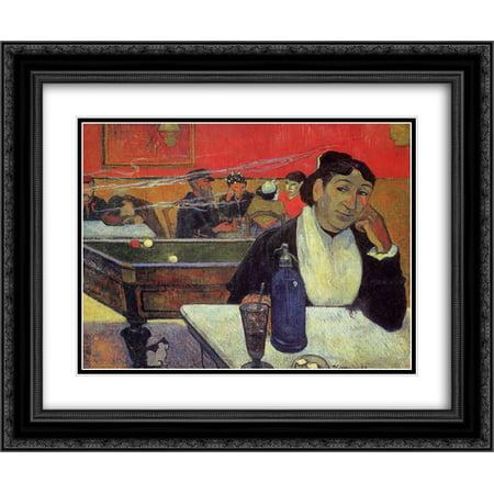 - Paul Gauguin 2x Matted 24x20 Black Ornate Framed Art Print 'Night cafe, Arles'