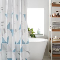 Deals on MoDRN Scandinavian Triangle Shower Curtain 72-in x 72-in