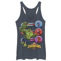 Marvel Women's Contest of Champions Hulk Battle Racerback Tank Top