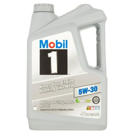 Mobil 1 5W 30  Full Synthetic Motor Oil  5 Qt