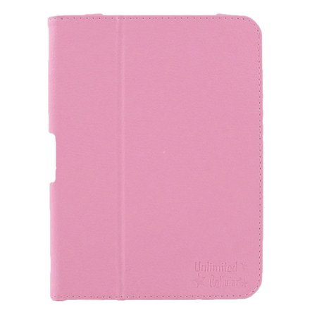 Unlimited Cellular Leather Flip Book Case Folio For Kindle Fire Hd 7    2012 Version    Pink