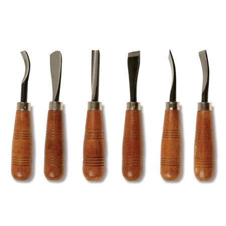 Sculpture House Heavy Duty Wood Carving Set - Set of 6 (Old Wood Carving)