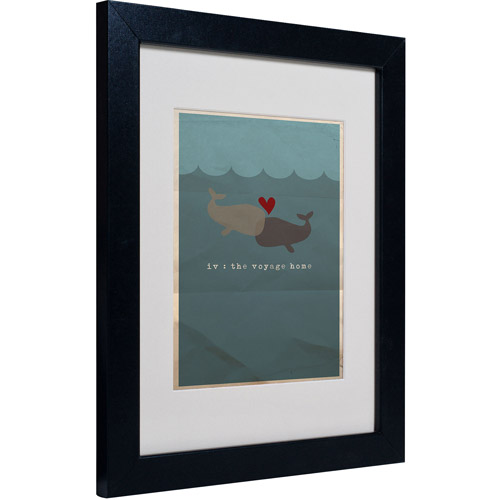 "Trademark Fine Art ""The Voyage Home"" Matted Framed Art by Megan Romo"