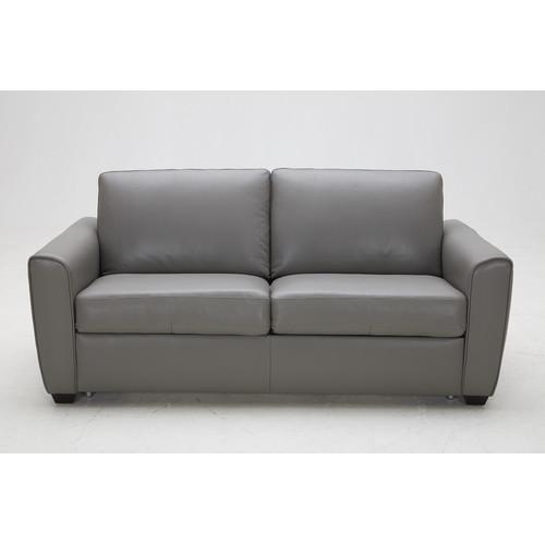J M Furniture Jasper Leather Sofa Walmart Com