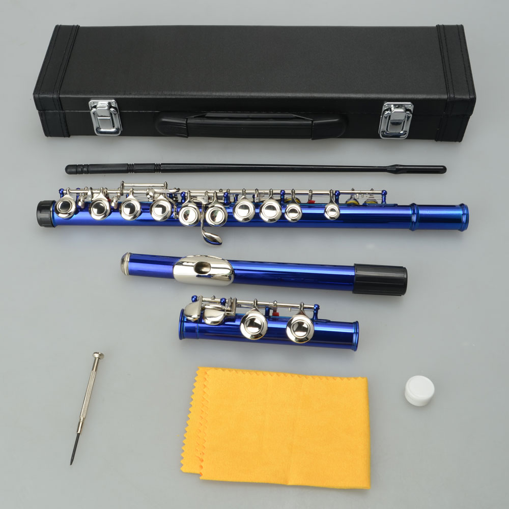 Ktaxon 16 Hole C Flute for Student Beginner School Band with Case 9 Colors