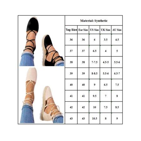 Women's Ladies Flat Wedge Espadrille Lace Tie up Sandals Platform Summer Shoes