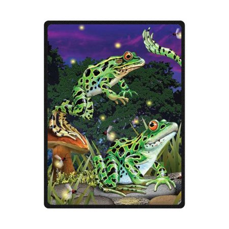 CADecor The Frogs Catch Fireflies At Night Fleece Blanket Throws 58x80 inches](Catch Fireflies)