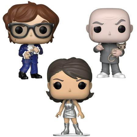 Funko POP! Movies Austin Powers Collectors Set - Dr. Evil, Austin Powers, Vanessa Kensington