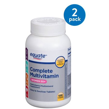 (2 Pack) Equate Women 50+ Complete Multivitamin/Multimineral Supplement, 100