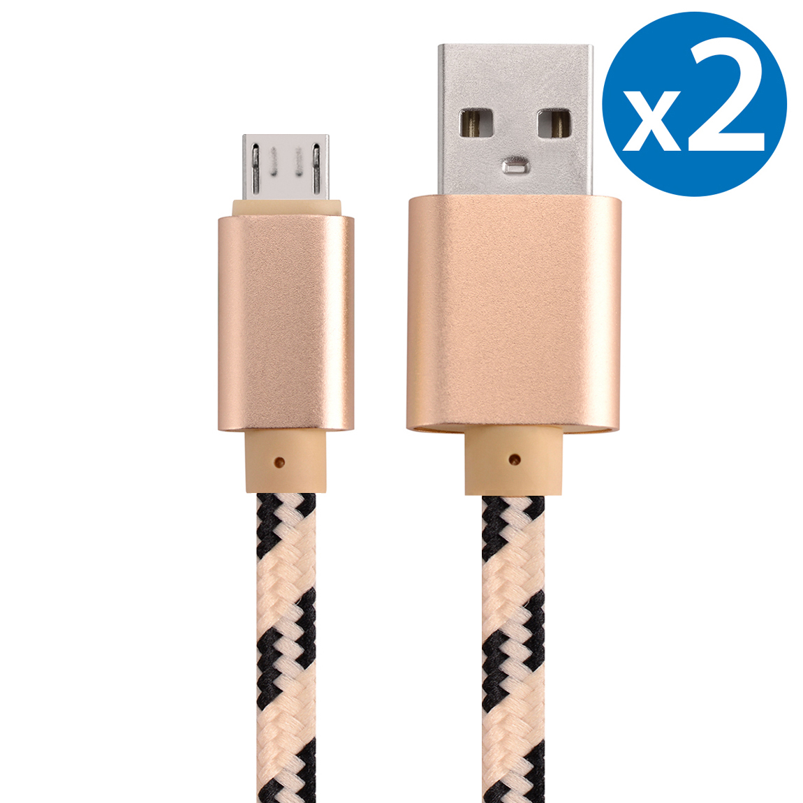 2x Micro USB Cable Charger For Android, FREEDOMTECH 3ft USB to Micro USB Cable Charger Cord High Speed USB2.0 Sync and Charging Cable for Samsung, HTC, Motorola, Nokia, Kindle, MP3, Tablet and More