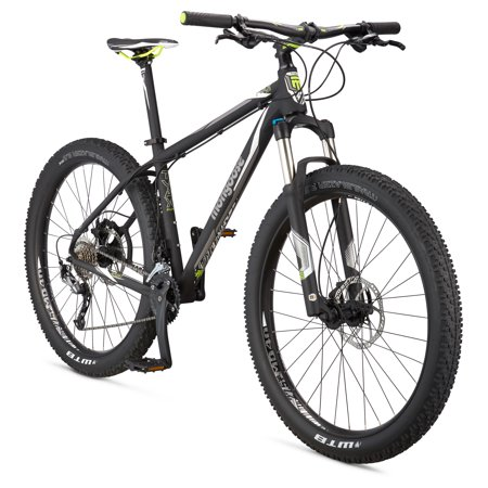 Mongoose Tyax Supa Sport 27.5+u0022 Mens Hardtail Mountain Bike, Black, Medium