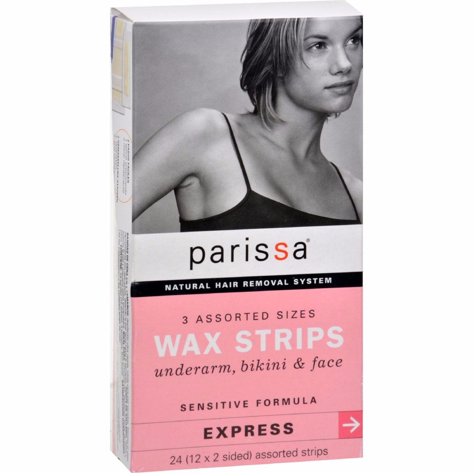 Parissa Wax Strips Sensitive 3 Assorted Sizes - 24 Strips - image 1 of 1