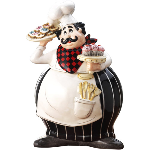 American Atelier Boun Appetito Chef Cookie Jar by Jay Import