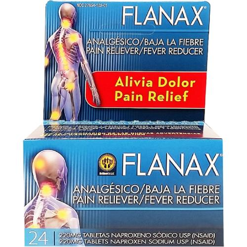 Flanax Pain Reliever/Fever Reducer Tablets, 220mg 24 ea (Pack of 6)