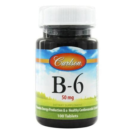 Carlson Labs - Vitamin B6 50 mg. - 100 Tablets