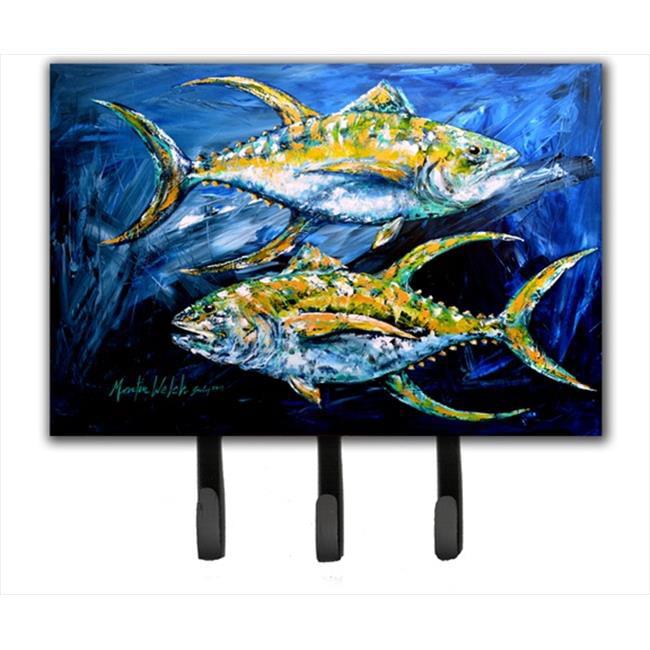 6 x 9 In. Fish - Tuna Tuna Blue Leash or Key Holder - image 1 of 1