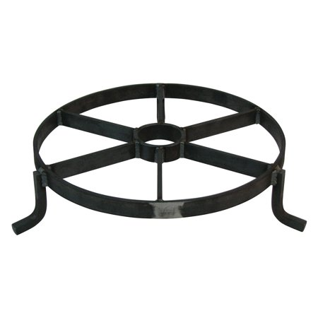 Border Concepts Wagon Wheel Riser Plant Stand