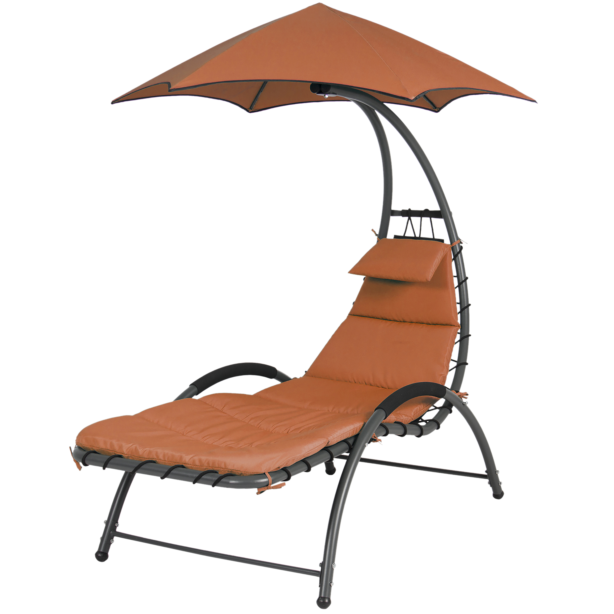 Arc Curved Hammock Dream Chaise Lounge Chair Outdoor Patio Pool Furniture