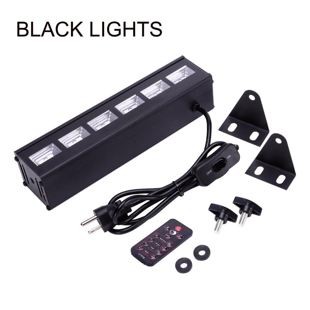 Zimtown U`King ZQ-B196 6 LEDs Purple Light Stage Light with Remote Control Auto/Sound/Flash/DMX512/Fade CE FCC RoHS Certification Black US Plug