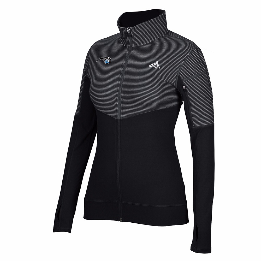 Orlando Magic NBA Adidas Black Lightweight Climalite Performance Full Zip Team Logo Pullover Jacket For Women by Adidas