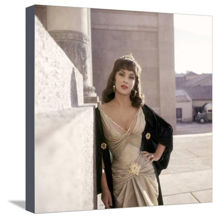 Salomon and la Reine by Saba SOLOMON AND SHEBA by King Vidor with Gina Lollobrigida, 1959 (photo) Stretched Canvas Print Wall Art
