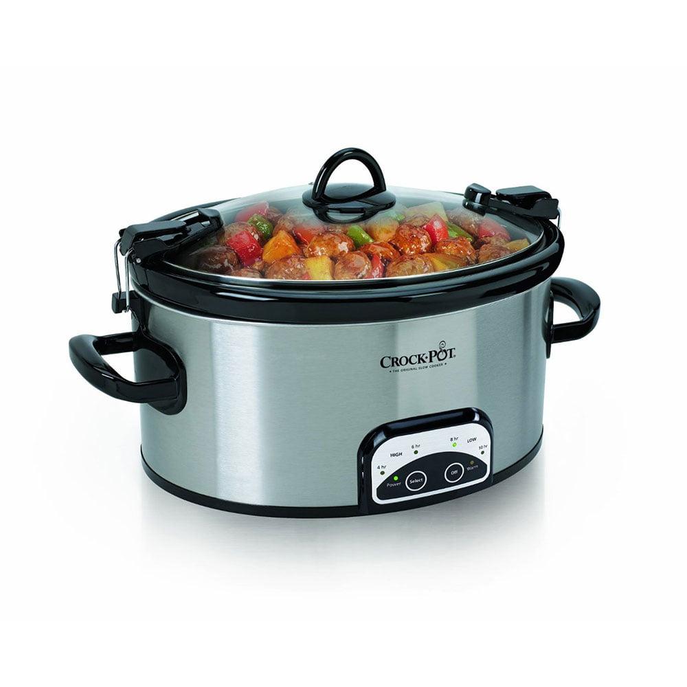 Crock-Pot SCCPVL605-S 6 Quart Programmable Cook & Carry Oval Slow Cooker Black