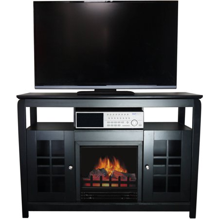 Decor Flame Media Electric Fireplace For Tvs Up To 55 Black