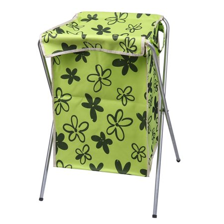 Hamper laundry basket folding storage bin dirty clothes washing green - Hamper for dirty clothes ...
