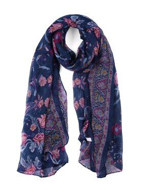Large Polyester Scarves Beach Shawl Vintage Wrap For Women