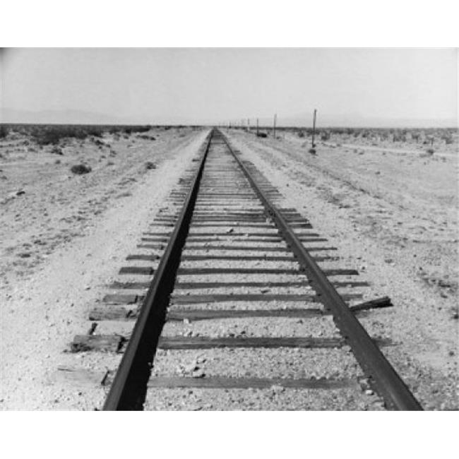 Posterazzi SAL2556233 Railroad Track Passing Through a Landscape Poster Print - 18 x 24 in. - image 1 de 1