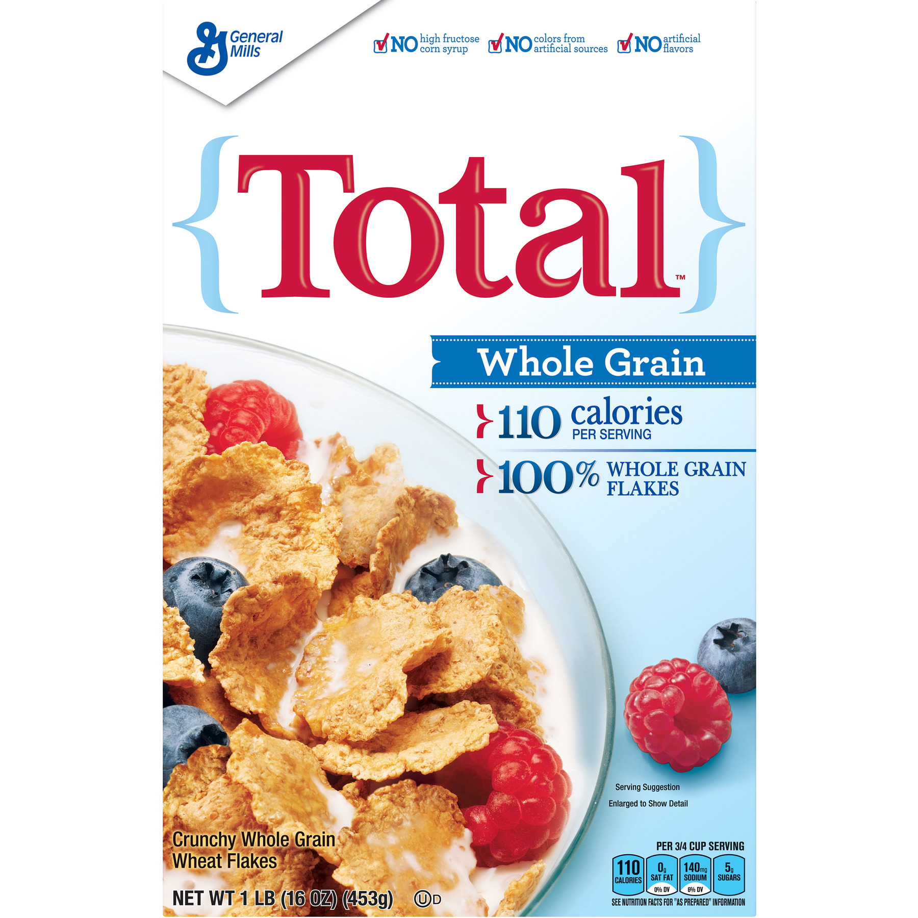 Total Whole Grain Breakfast Cereal, 16 oz Box