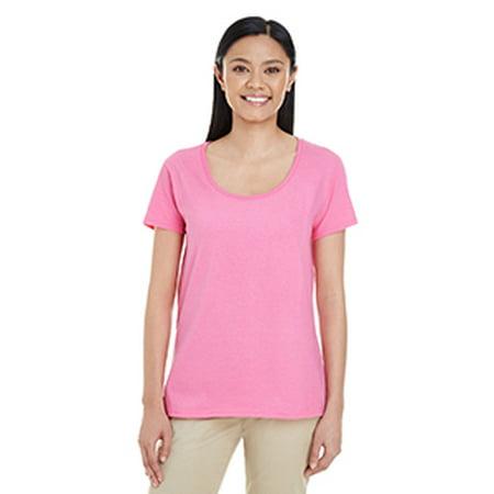 Gildan Ladies' Softstyle® 4.5 oz. Deep Scoop T-Shirt - Gildan Ladies Tee