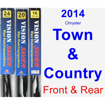 2014 Chrysler Town & Country Wiper Blade Set/Kit (Front & Rear) (3 Blades) - Vision