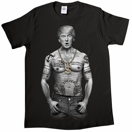 - Unisex-Adult Trump Nation - Gangster Donald Trump Black T-Shirt