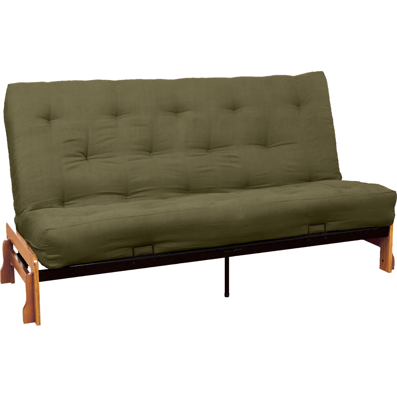 All Cotton 8-inch Loft All Cotton Filled Futon Mattress, Queen-size, Suede Ebony Black Mattress Color