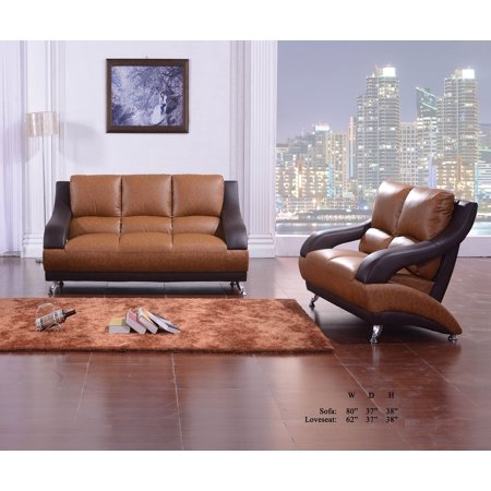 interesting modern contemporary living room furniture | Classic Unique Modern Vance Bonded Leather Two Tone Brown ...