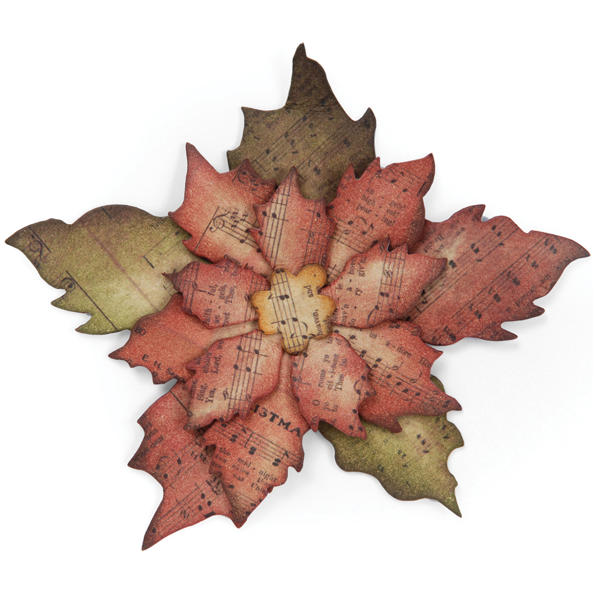"Sizzix Bigz Die By Tim Holtz 5.5""X6""-Tattered Poinsettia"