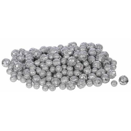 Vickerman 20mm/25mm/30mm Glitter Styrofoam Ball Christmas Ornaments, Pack of 72