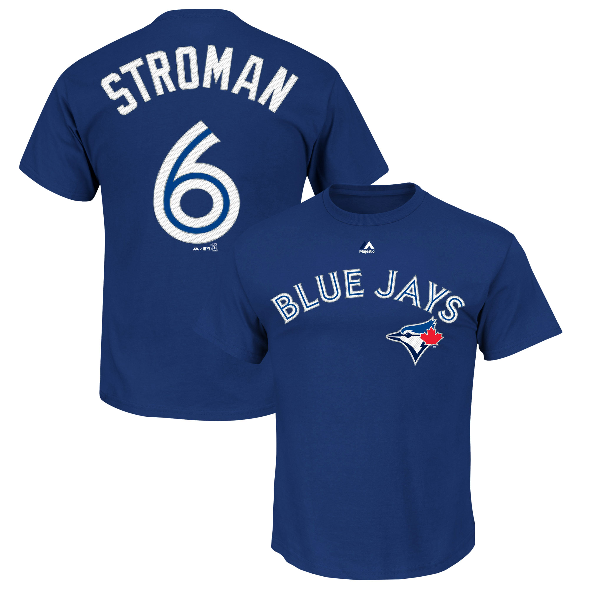 Marcus Stroman Toronto Blue Jays Majestic Official Name & Number T-Shirt - Royal