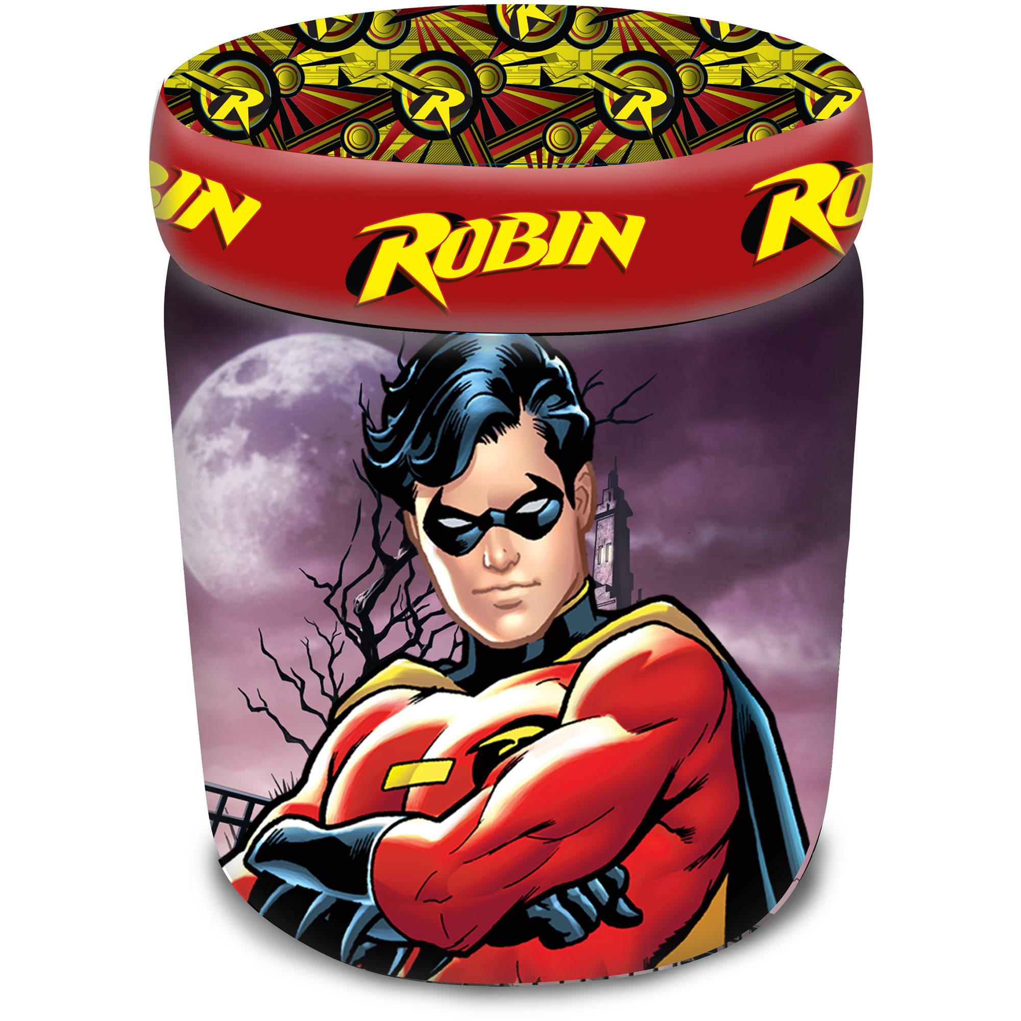 Warner Brothers Robin Classic Animated Hero Storage Ottoman