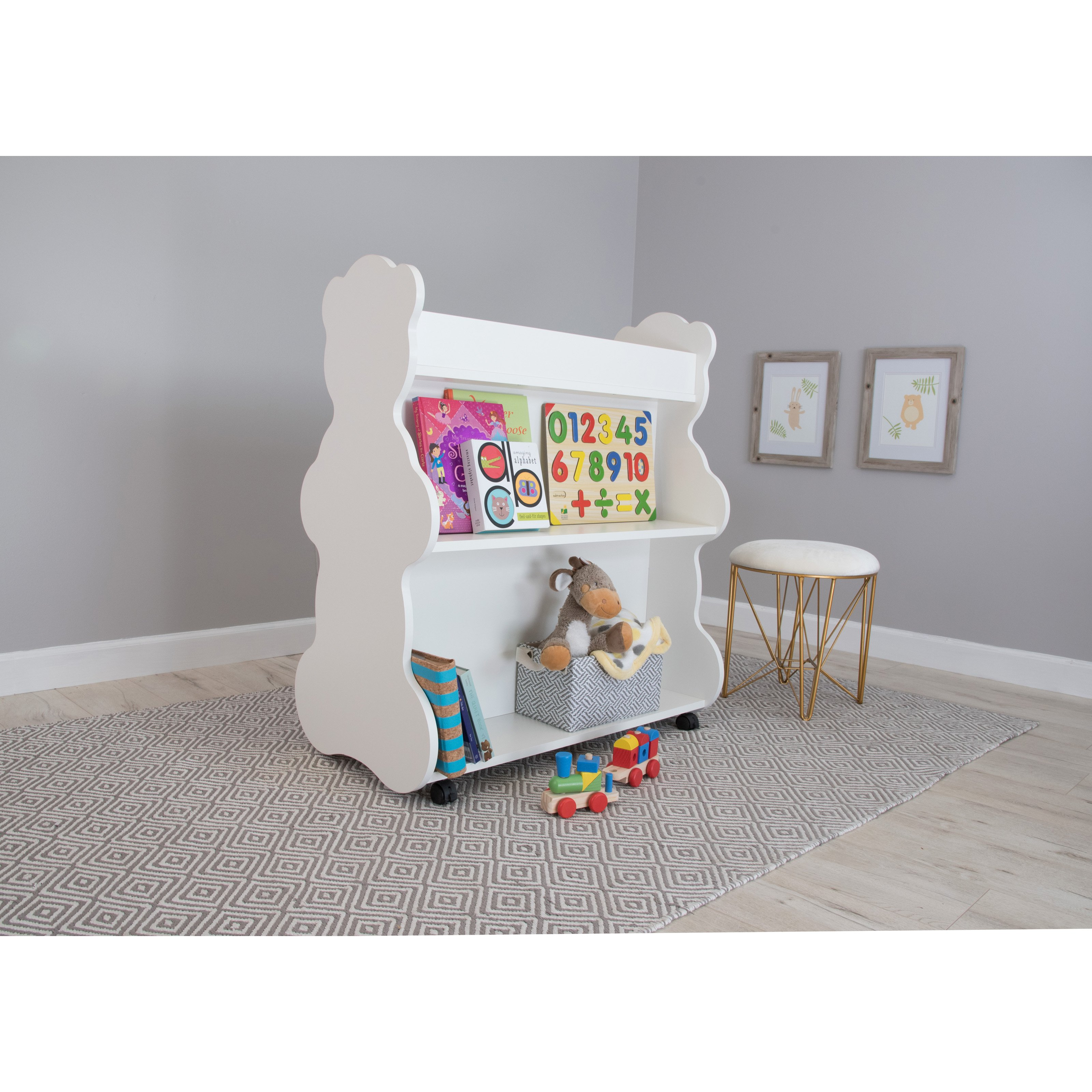 Image of Ace Baby Furniture Bear Mobile Double-Sided Bookcase