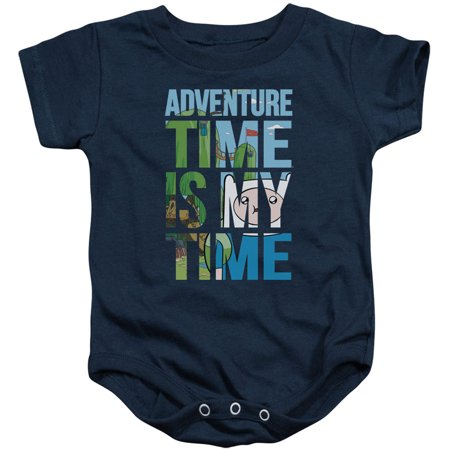Adventure Time Boys' My Time Bodysuit Navy