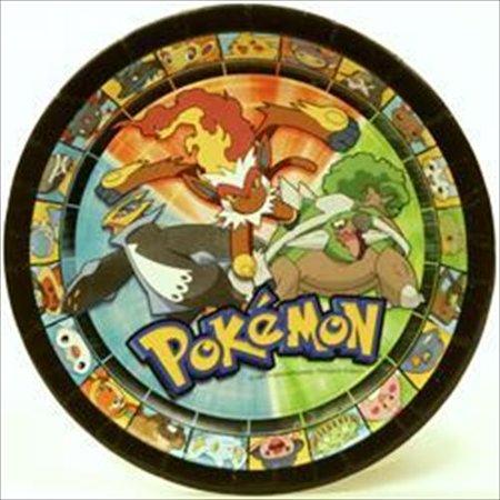 Pokemon 'Diamond and Pearl' Small Paper Plates - Pokemon Plates