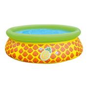 "JLeisure 5' x 16.5"" 3D Pineapple Inflatable Outdoor Kiddie Swimming Pool"