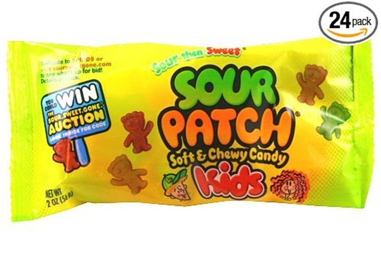 24/Pack Continental Concession Spk24 Sour Patch Kids 2 Oz 24 Pack
