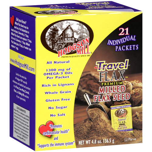 Hodgson Mill Travel Flax Premium Milled Flax Seed, 21 count, 4.8 oz