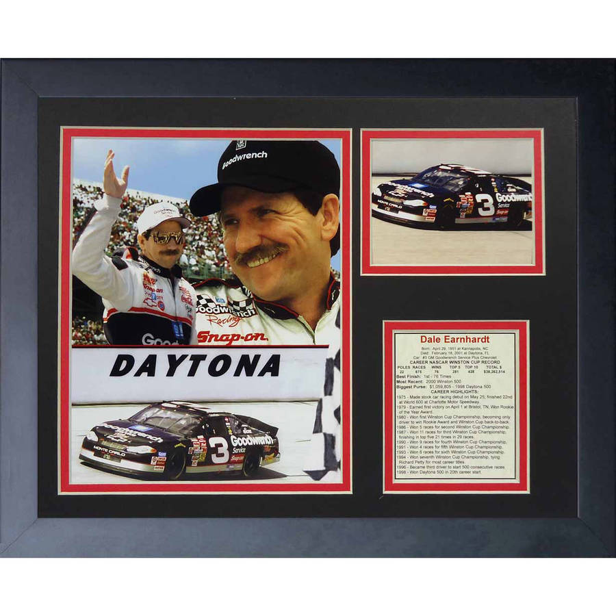 "Legends Never Die ""Dale Earnhardt Sr. Commemorative"" Framed Photo Collage, 11"" x 14"" by Legends Never Die, Inc"