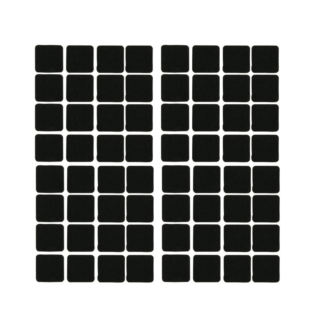 Furniture Rubber Square Feet Antiskid Adhesive Pad Floor Protector Black 64pcs - image 3 of 3